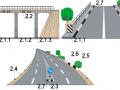 Виды разметок на мосту