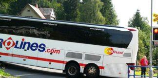 Автобус на ЖД переезде