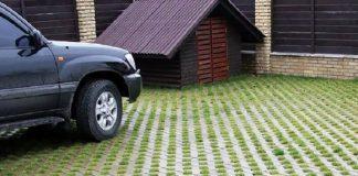 Газонная решетка для парковки бетонная.