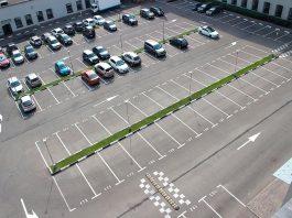 Разметка парковки.