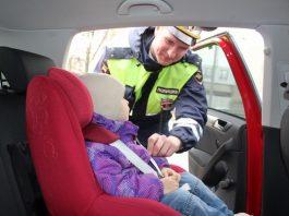 Штраф за перевозку детей.