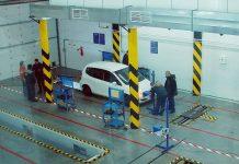 Пункт технического осмотра автомобилей.